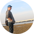 Junaidi Sugianto Pujiono in Beach of Madura
