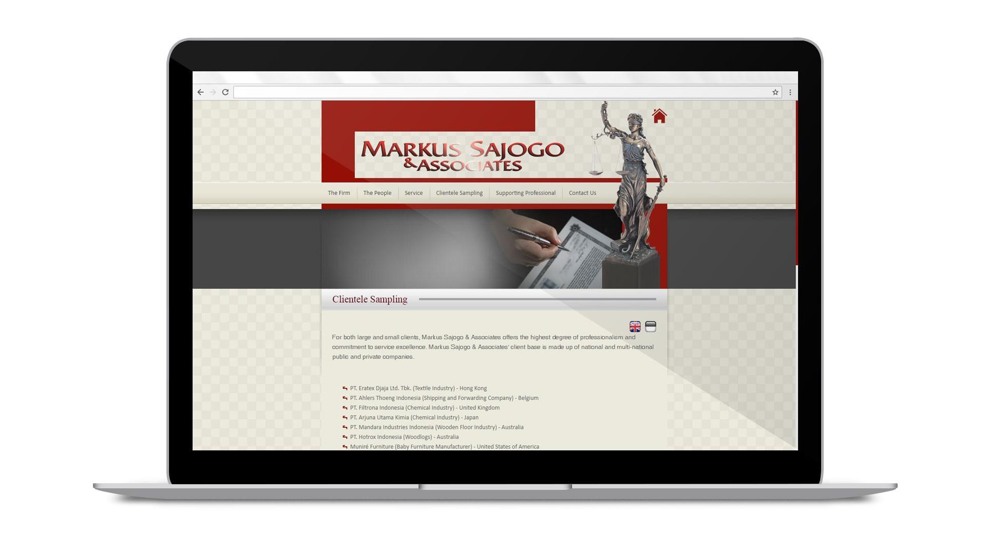 Web Design & Development of Markus Sajogo & Associates
